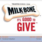 Finished Work: Promotional Cutting Boards for Milk Bone