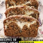 Recipes to Boost Focus in Meetings: Pumpkin Cream Cheese Bread #RBFM