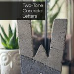 #DIY Promotional Giveaway: Two-Tone Concrete Letters