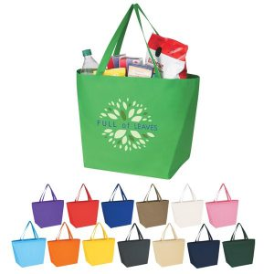 "Custom Non Woven Budget Shopper Tote Bag - 20"" X 13"" Item# 676381"