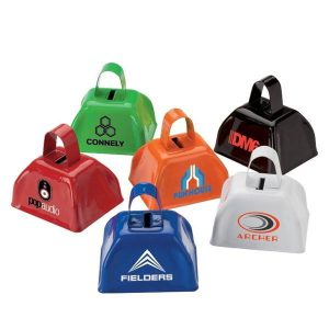 colorful cowbells