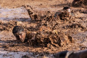 Soldiers in the mud.
