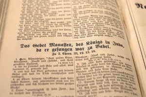 An old German bible.