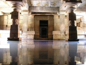 A flooded ancient temple.