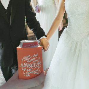 Use can coolers at weddings.