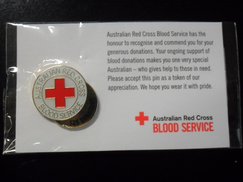 Blood Donation Pin