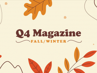 Fourth Quarter Magazine Cover with Seasonal Fall Leaves