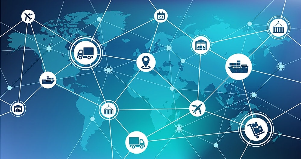 Global Supply Chain Graphic